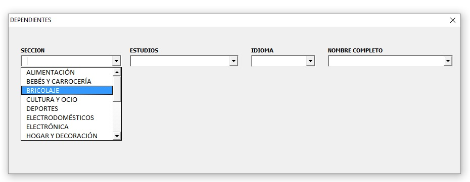 COMBOBOX DEPENDIENTES EN USERFORM CON SQL3
