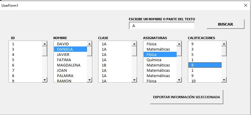 EXPORTAR DATOS SELECCIONADOS DE UN LISTBOX A OTRO LISTBOX EN OTRO FORMULARIO2
