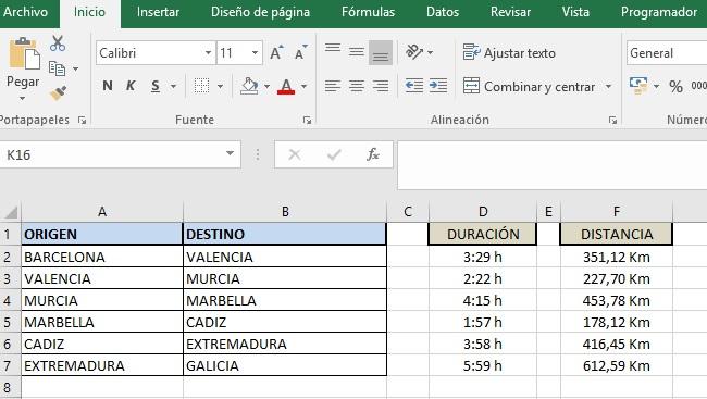 ACTUALIZACION API MATRIZ DE DISTANCIAS