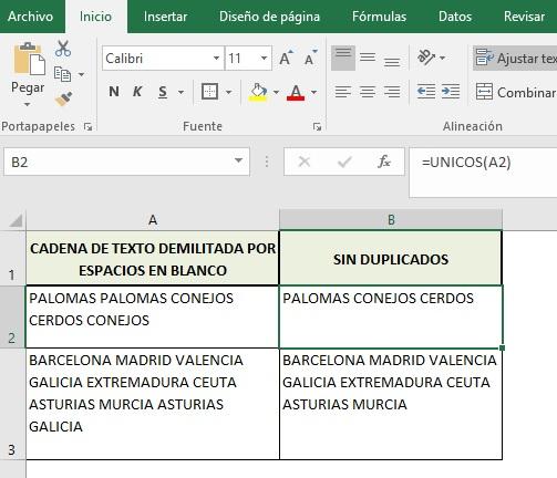 ELIMINAR DUPLICADOS EN UNA CADENA DE TEXTO Y ORDENAR INFORMACION