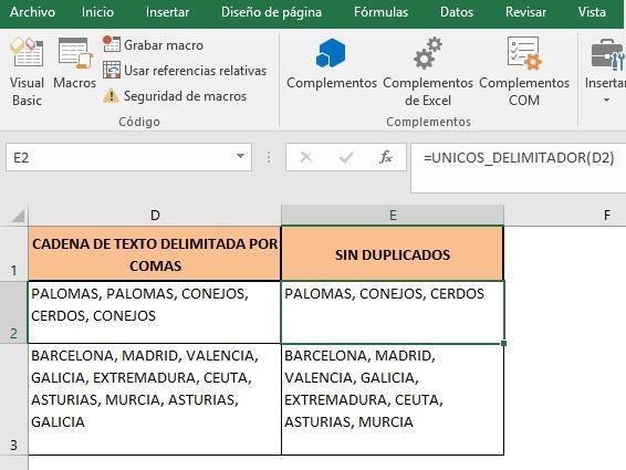 ELIMINAR DUPLICADOS EN UNA CADENA DE TEXTO Y ORDENAR INFORMACION1