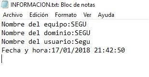 OBTENER DATOS A TRAVES DEL OBJETO WScript.Network Y OTRAS INFORMACIONES