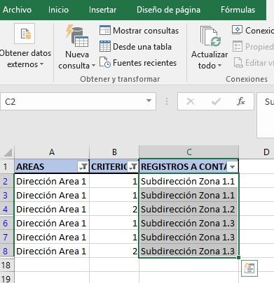 CONTAR REGISTROS UNICOS CON VARIOS CRITERIOS1