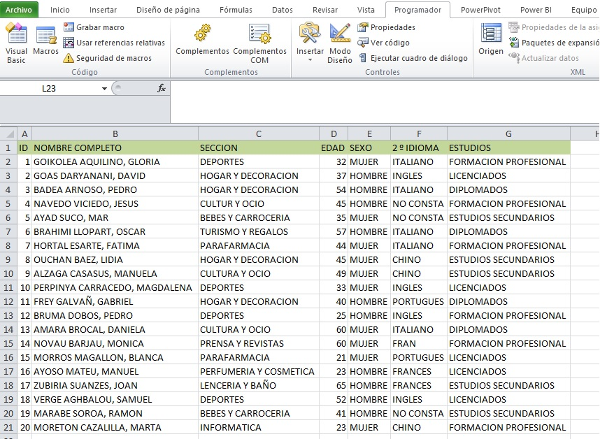 MACRO PARA HALLAR DIFERENCIAS ENTRE DOS BASES DE DATOS2
