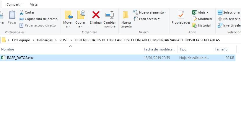 obtener datos de otro archivo con ado e importar varias consultas en tablas